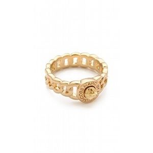Marc Jacobs Gold Turnkey ring